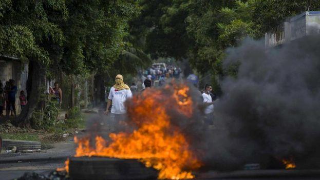 Los manifestantes en Nicaragua piden ahora libertades políticas, el fin de la corrupción y elecciones limpias. (EFE)