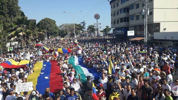 Los manifestantes escucharán las palabras del presidente del Legislativo en Caracas este 23 de enero. (jguaido)