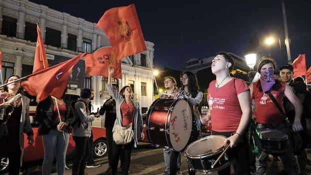 """Las manifestantes exigieron """"justicia"""" y animaron a todas las mujeres a denunciar si han sido víctimas de delitos sexuales. (EFE)"""