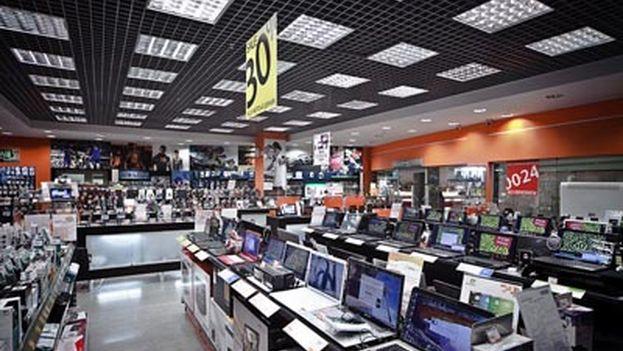 El mercado de electrónica Saviolovskiyp. (Ancón)
