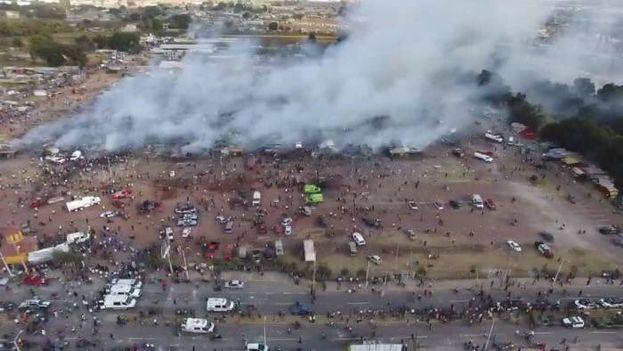 Estado del mercado de pirotecnia tras las explosiones del martes. (Twitter)