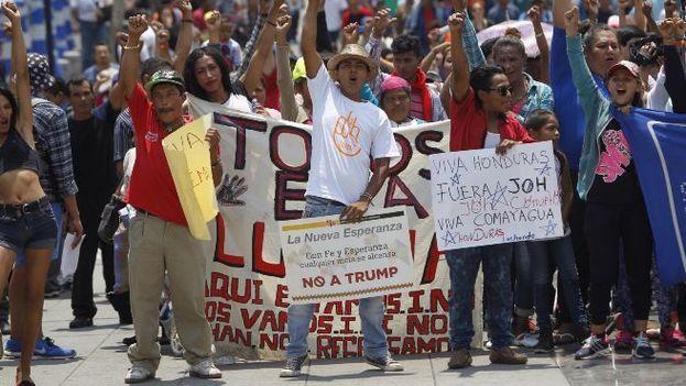 La caravana de migrantes centroamericanos a su paso por México. (EFE Archivo)