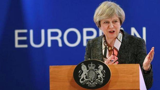 La primera ministra birtánica, Theresa May, en una imagen de archivo. (EFE)