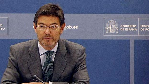 El ministro de Justicia español, Rafael Catalá, poco antes de su nombramiento