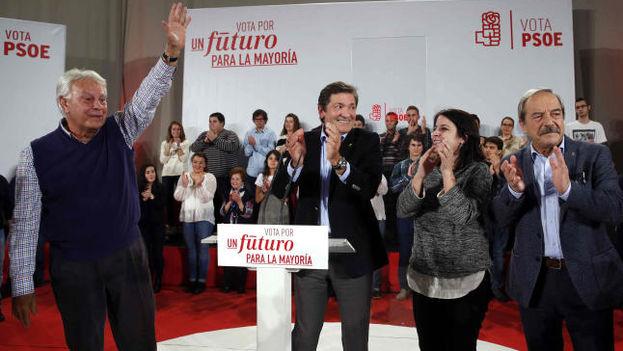 El mitin del PSOE en Oviedo.