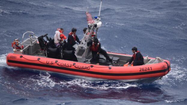 El naufragio ocurrió el día en el que la tormenta tropical Elsa cruzó el centro de Cuba. (USCG)