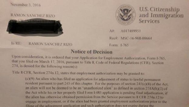La negativa del permiso de trabajo. (14ymedio)