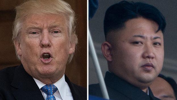 El presidente norteamericano, Donald Trump, y el gobernante norcoreano Kim Jong-un