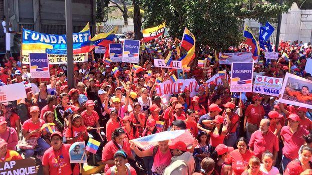 """El oficialismo invitó a sus seguidores a marchar para trasladar los restos de Ojeda, """"víctima de la oligarquía"""", hasta el Panteón Nacional. (@PSUV)"""
