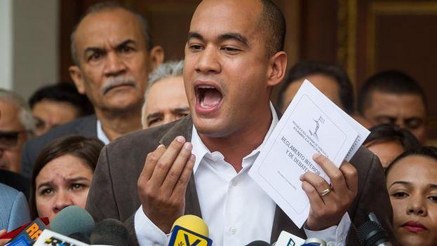 El diputado oficialista venezolano Héctor Rodríguez. (EFE)