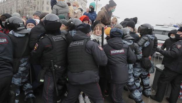 """El equipo del líder opositor calificó estas manifestaciones como las """"mayores de la historia rusa contemporánea"""". (EFE)"""