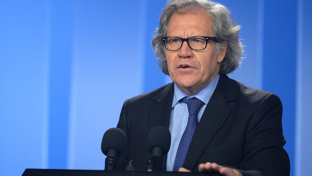 El secretario de la organización, Luis Almagro, este lunes en Bogotá. (OEA)