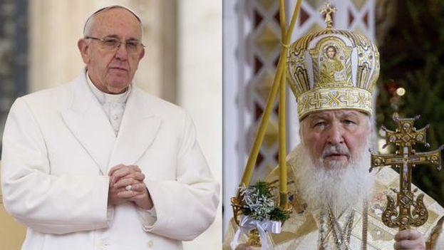 El papa Francisco y el Patriarca Kiril.