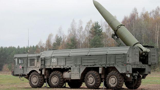 Una plataforma de misiles rusa enclavada en Kaliningrado. (EFE)