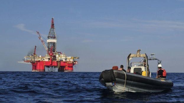 Una plataforma petrolífera en el Golfo de México. (EFE)