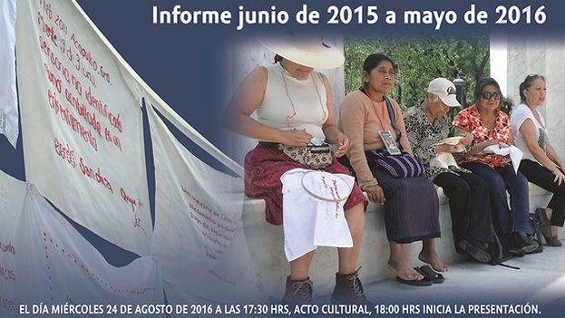 La portada del informe del Comité Cerezo México.