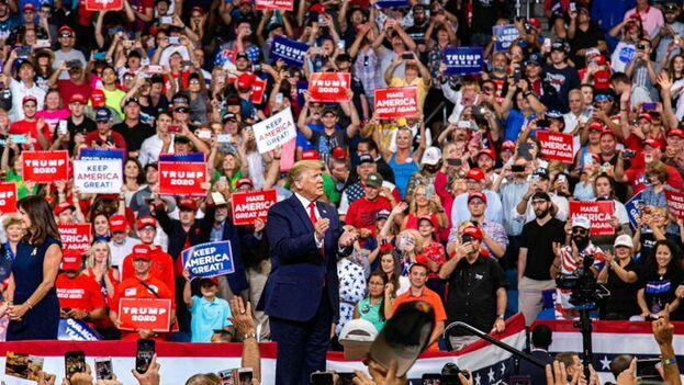 La presentación de Donald Trump como candidato fue meramente formal, pues estaba anunciado desde que asumió la presidencia. (@realDonaldTrump)