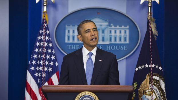 El presidente Barack Obama en rueda de prensa. (Archivo EFE)