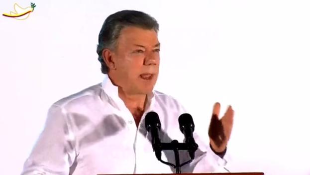 El presidente Juan Manuel Santos se dirige a la nación colombiana tras la firma de la paz. (CC)