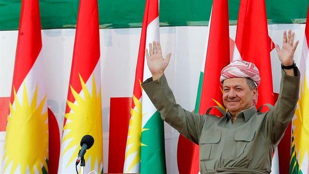 El presidente de la región autónoma del Kurdistán iraquí, Masud Barzani. (EFE)