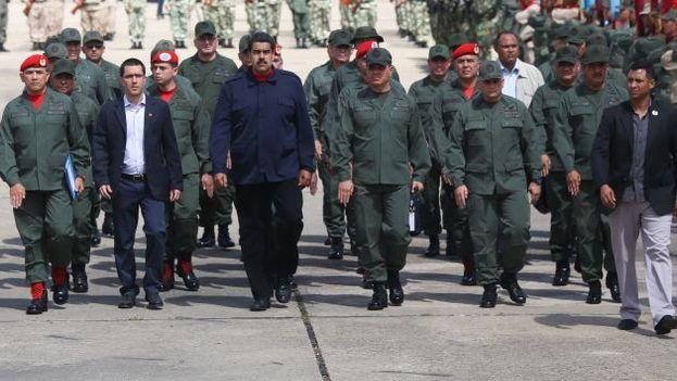 El presidente Nicolás Maduro en una ceremonia militar. (Archivo EFE)