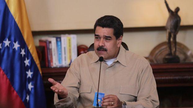 """El presidente venezolano pidió a los opositores que cesen su """"escalada golpista"""". (@PSUV)"""