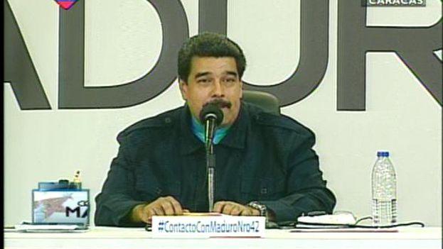 El presidente venezolano en su programa de televisión 'En contacto con Maduro'