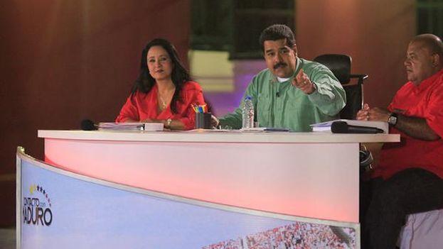 El presidente venezolano durante la emisión de su programa televisivo En contacto con Maduro. (PSUV)
