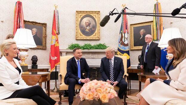 Los presidentes de Polonia y EE UU exhibieron una gran unidad en casi todos los temas a excepción de la reforma judicial polaca. (@realdonaldtrump)