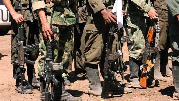 La semana pasada concluyó la recepción y almacenamiento en sus contenedores de las primeras 1.000 armas de combatientes de las FARC. (EFE)
