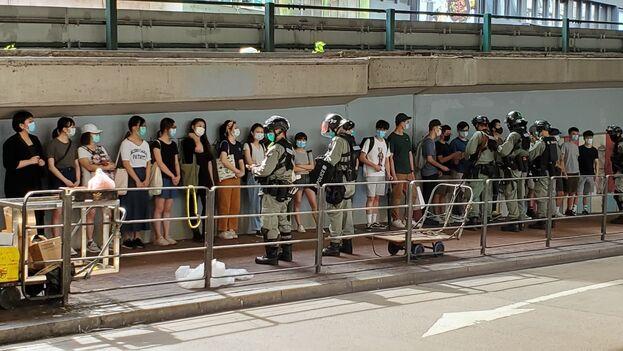 Por primera vez en 17 años no está permitida la marcha antigubernamental del 1 de julio. (HKFP)