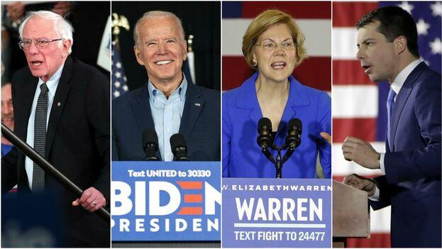 Los principales candidatos tendrán que esperar a conocer el resultado del primer 'caucus' tras los problemas técnicos en Iowa.
