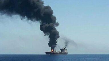 Dos barcos cisterna, uno propiedad de un armador noruego y otro japonés, sufrieron el jueves impactos y explosiones mientras salían del estrecho de Ormuz. (D.R.)