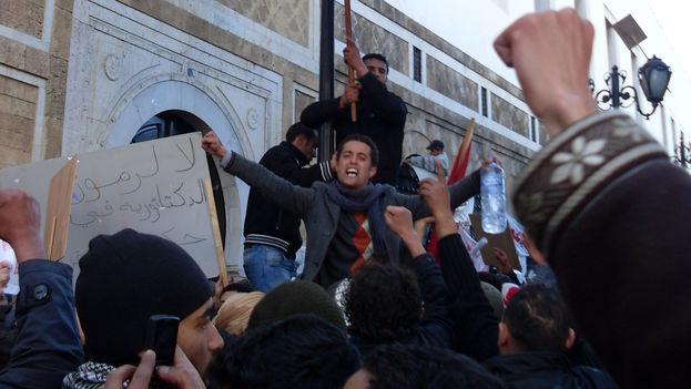 Una protesta en Túnez en 2011. (Wikicommons)