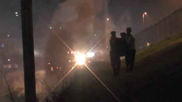 Una imagen de las protestas en Ferguson. (Andrés Benedicto, Twitter)