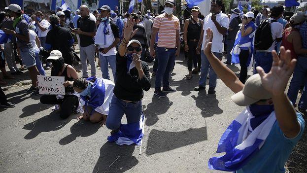 Las protestas contra el Gobierno de Ortega no arrecian después de muchas semanas y centenares de muertos. (EFE)