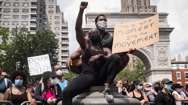 Las protestas comenzaron a las 12.00 hora local y se desparramaron por toda la ciudad de Washington. (EFE)