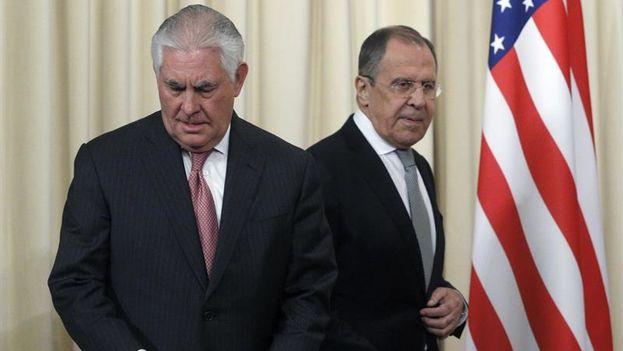 Esta mañana el secretario de Estado de EE UU, Rex Tillerson, se había reunido con el ministro ruso de exteriores, Serguéi Lavrov. (EFE)
