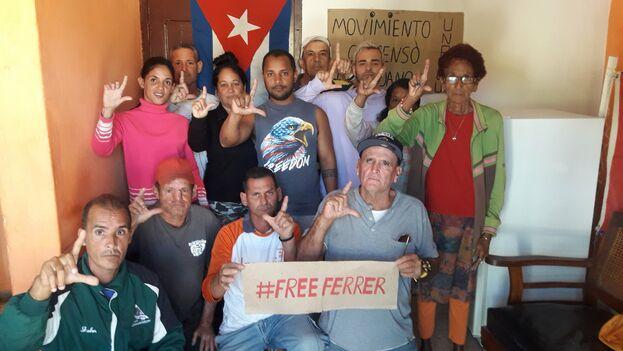 En las redes sociales también se ha reclamado su puesta en libertad con la etiqueta #FreeFerrer. (Twitter/@KataCuba)