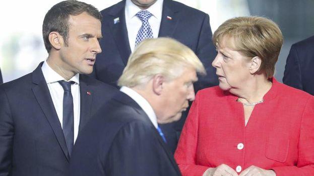 La relación entre Bruselas y Washington se ha tensado tanto que los líderes europeos incluso han dejado de mantener la compostura ante las formas de Trump. (efe)