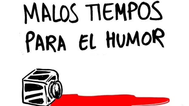 Una viñeta de la revista satírica española 'El Jueves' tras conocerse el tiroteo en la sede de 'Charlie Hebdo'.