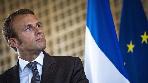 El político socioliberal francés y candidato a la presidencia, Emmanuel Macron. (EFE)