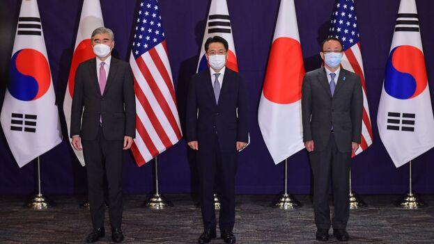 Sung Kim se reune con representantes surcoreanos y de Japón para coordinar posturas hacia Corea del Norte. (Captura /Yonhap)