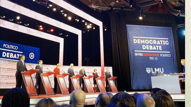 El debate fue el primero televisado desde que saliera adelante el juicio político contra Trump.