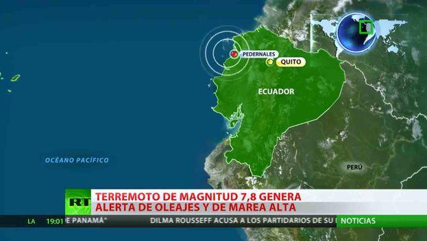 El terremoto de 7,8 grados en la escala abierta de Richter azotó el norte de la región costera de Ecuador. (Internet)