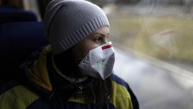 Una turista en un viaje organizado a Chernóbil, 2011. (D. Markosian)