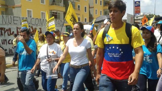 La opositora venezolana María Corina Machado. (TWITTER)