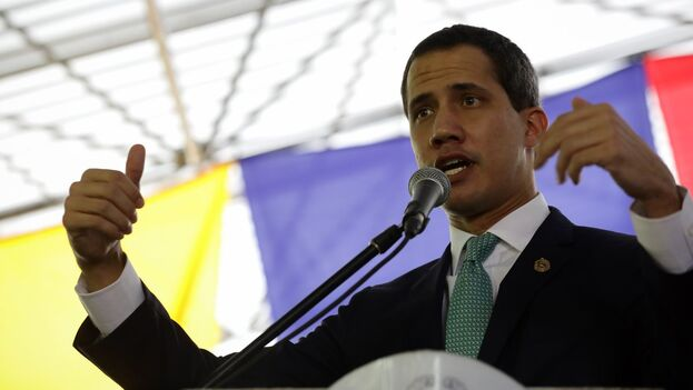 El líder opositor venezolano Juan Guaidó. (EFE/Rayner Peña/Archivo)