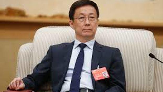 El viceprimer ministro chino, Han Zheng, ofreció su primer discurso después de que fuera nombrado en el cargo la pasada semana. (EFE)