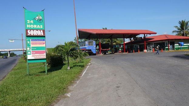 La gasolinera estatal Cupet. (Jorge Guillén)